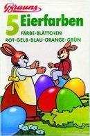 Ostereier-Farben 5 Färbe-Blättchen Brauns-Heitmann Eierfarben