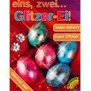 Glitzer-Ei Ostereier Eierfärbe Farben