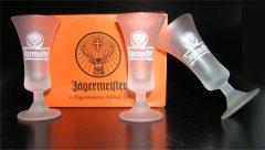 6 original Classic Jägermeister Gläser 0.02l satiniert 2cl