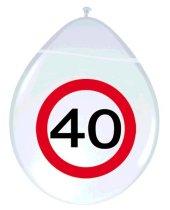 Deko Luftballons Verkehrsschilder 40 für Geburtstag Jubiläum