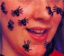 gruselige Spinnen schwarz, 25 Stück Deko Spinnen