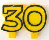 Geburtstag Jubiläums Kerze 30 Zahlenkerze