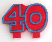 Geburtstag Jubiläums Kerze 40 Zahlenkerze