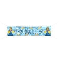 Banner Strassenbanner Wimpel Oktoberfest 180x40cm