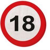 20 Servietten Verkehrsschild 18 Geburtstag Jubiläum