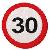 20 Servietten Verkehrsschild 30 Geburtstag Jubiläum