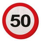 20 Servietten Verkehrsschild 50 Geburtstag Jubiläum