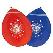 8 Luftballons Folatex USA Durchmesser: 30cm rot / blau sortiert