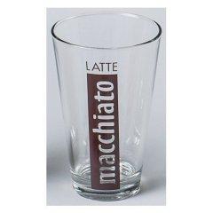 6 Latte Macchiato Gläser Cafe Glas Kaffee 300ml Becher konisch