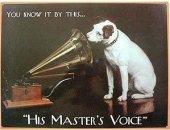 His masters voice Blechschild 20x30cm