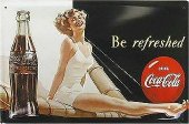 Coca Cola be refreshed Blechschild 20x30cm