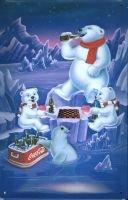 Coca Cola Picnic Bears Blechschild 20x30cm