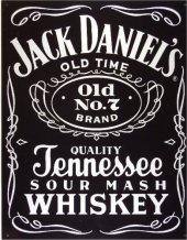 JACK DANIEL'S WOODCUT Blechschild 20x30cm