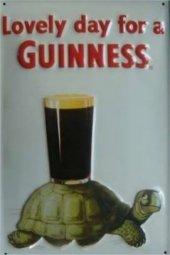 Guinness Lovely Day nostalgisches Blechschild 20x30cm schwere Qualität