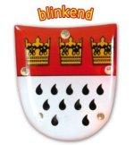Blinkie Kölner Wappen Anstecker blinkend mit Licht Blinky