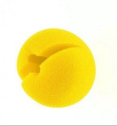 Clownnase aus Schaumstoff zum Aufstecken gelb Clown Nase