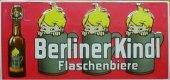 Berliner Kindl Flaschenbiere Blechschild 25x50cm