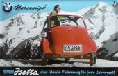 BMW Isetta Motorcoupe nostalgisches Blechschild 20x30cm schw. Qualität
