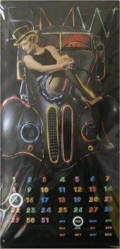 BMW Dauerkalender Marlene nostalgie Blechschild 25x50cm