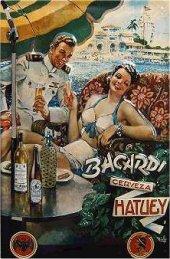Bacardi Cerveza Hatuey nost. Blechschild 20x30cm schwere Qualität