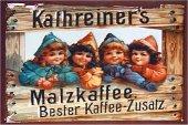 Kathreiners Malzkaffee nostalgisches Blechschild 20x30cm schw.Qualität