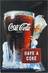 Coca Cola Sprite Boy nostalg. Blechschild 20x30cm schwere Qualität