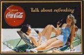 Coca Cola Talk about refreshing Blechschild 20x30cm schwere Qualität