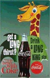 Coca Cola things go better with coke Blechschild 20x30cm schw.Qualität