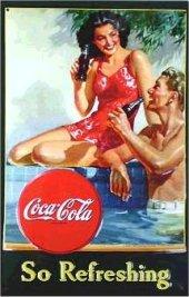 Coca Cola So Refreshing nostalg. Blechschild 20x30cm schwere Qualität