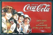 Coca Cola Four Seasons nostalg. Blechschild 20x30cm schwere Qualität