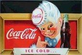 Coca Cola Eiskalt nostalgisches Blechschild 20x30cm schwere Qualität