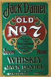 Jack Daniels Old No.7 Green nost. Blechschild 20x30cm schwere Qualität