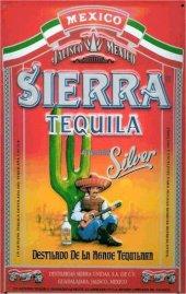 Sierra Tequila Silver nostalgisches Blechschild 20x30cm schw. Qualität