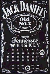 Jack Daniels Dauer Kalender nost. Blechschild 20x30cm schwere Qualität
