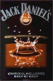 Jack Daniels Carcoal Mellowed Blechschild 20x30cm schwere Qualität