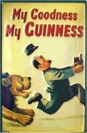 Guinness Löwe nostalgisches Blechschild 20x30cm schwere Qualität