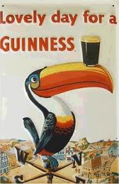 Guinness Tukan Windrose nost. Blechschild 20x30cm schwere Qualität