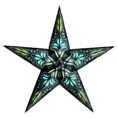 earth friendly JAPIPUR BLACK/TURQUOISE Starlightz