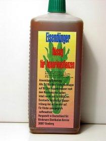 Eisendünger 1 Liter Flasche Wasser-Pflanzendünger