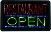 LED Leuchtschild Restaurant OPEN 230V, 40cm lang
