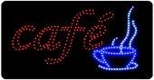 LED Leuchtschild Cafe 230V, 40cm lang