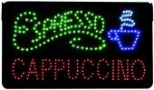 LED Leuchtschild Cappuccino Espresso 230V, 40cm lang