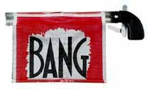 Piratenpistole BANG-Flagge