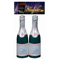 Prosit Neujahr, Tischbomben 2er, Sektflaschen