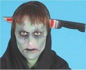Messer im Kopf Messer durch den Kopf Grusel Horror
