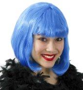 Perücke Lola neon blau