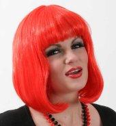 Perücke Lola neon rot