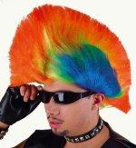 Rainbow-Punk Perücke