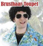 Brusthaar Toupet, schwarz