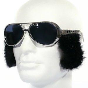 Orig. Elvis Presley Sonnenbrille silber mit Kotletten